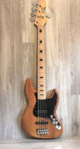 Bass Guitar 5 strings Jazz bass Natural full size iMEB269 iMusicGuitar