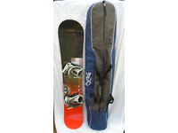 Nudact Snowboard- 151cm- with Bindings and Carry Bag