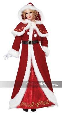 California Kostüme Mrs. Claus Santa Weihnachten Kostüm Damen (Damen Mrs Santa Kostüm)