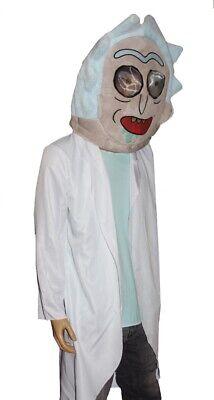 lloween Costume MASKIMALS Mask Labcoat Adult Swim S M NEW (Rick Halloween-kostüm)