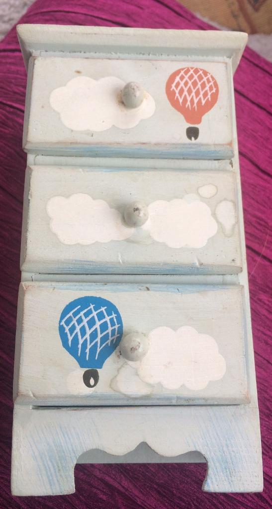 3 draw miniature jewellery box