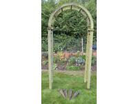 Rose Arch Wooden Pergola Gazebo