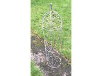 LARGE TUBULAR METAL FRAMED TRELLIS, GARDEN PLANT VINE TRAINER CREEPER, IDEAL UPCYCLE