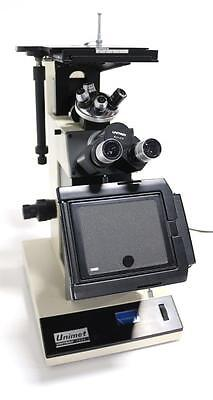 Unitron Unimet 7634 Inverted Microscope With Epi Mpl Objectives