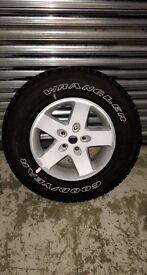 Jeep Wrangler JK Original 17 inch Alloy Wheels & Tyres set of 4