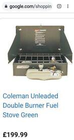 Coleman dual fuel double burner