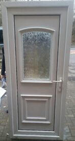 UPVC White Door VGC 900x2010 Delivery available- ask