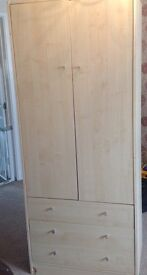 Wardrobe 3 draws good condition slight damage to lower plinth on either side as shown in picture