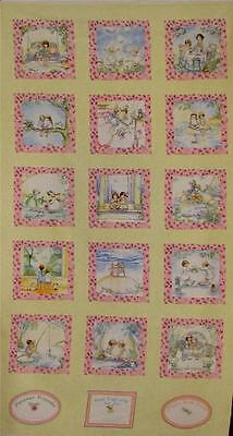 FRIENDS FOREVER BEST FRIENDS FLANNEL Cotton Fabric Panel for Quilting,