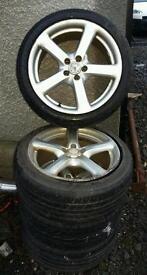 5 spoke allow wheels set for sale