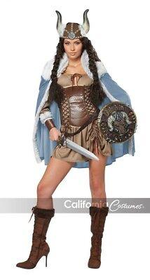 VIKING VIXEN Medium Costume Medieval Barbarian Warrior Women Halloween - Viking Warrior Woman Costume