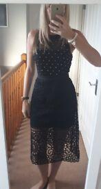 Very black midi dress. Size 8. BNWT