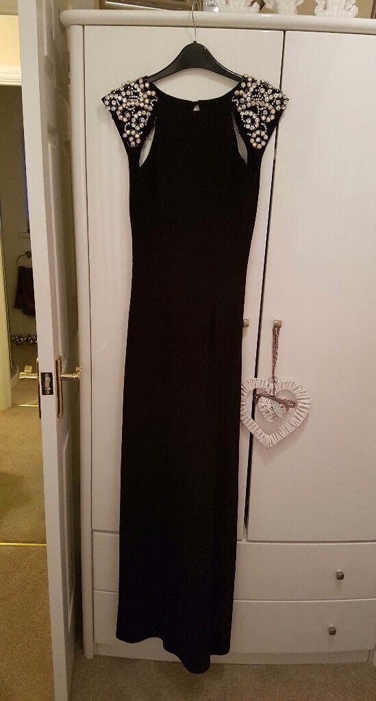 Black lipsy formal dress size 8 10in Dromara, County DownGumtree - Gorgeous dress. Stretch material so very comfortable. Beading on shoulders all complete. Very flattering