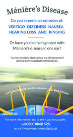 Meniere's Disease Clinical Research Study