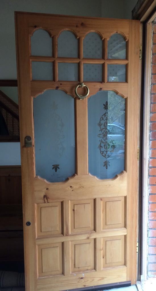 Large wooden front door