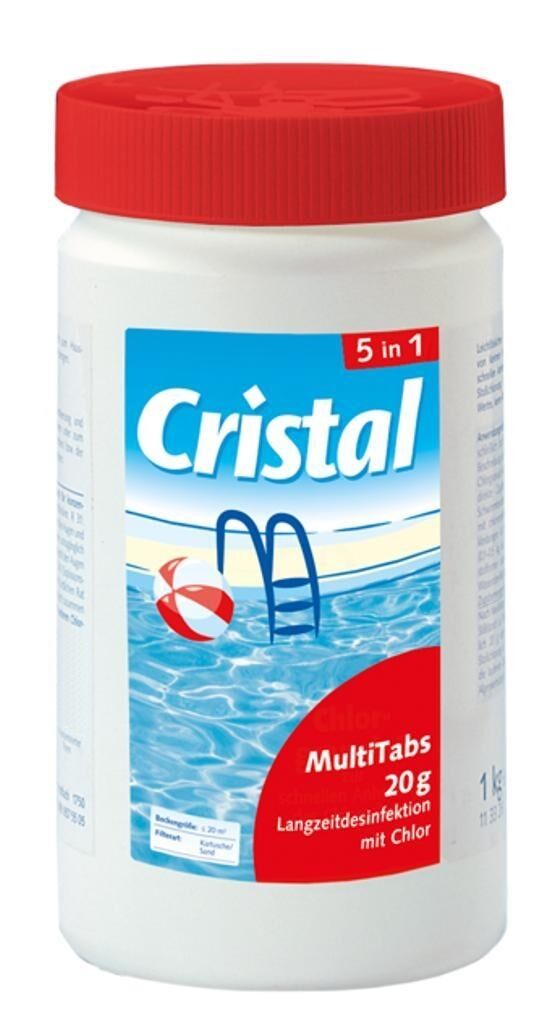 cristal multi tabs 5 in 1 poolpflege schwimmbeckenpflege 5 kg ebay. Black Bedroom Furniture Sets. Home Design Ideas