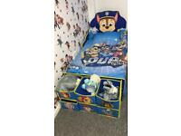 Paw patrol bed and accessories