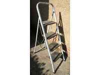 Strong Metal Step Ladder - 4 comfortably deep metal steps