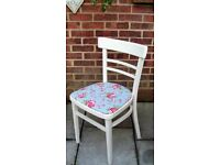 Lovely Shabby Chic Retro/Bistro Dining/Living/Kitchen Chair painted in Antique White Colour