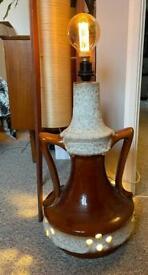 West German Fat Lava Floor Lamp, Mid Century double bulb