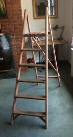 Vintage Wooden Step Ladders - Wedding Display - Shabby Chic Project