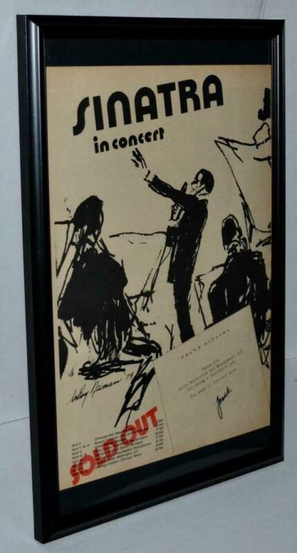 FRANK SINATRA 1974 IN CONCERT WITH CONCERT DATES ORIGINAL FRAMED POSTER / AD