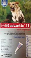 Genuine K9 Advantix II extra large dogs (55+ lbs) 1 box=6 tubes