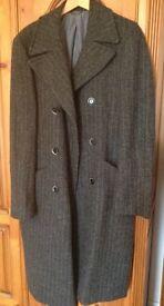 Harris Tweed Wool Coat worn once size M