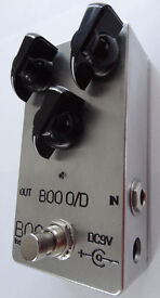 BOO OVERDRIVE / DISTORTION PEDAL ( Light Up Lid - Bottom Lit Version) AS NEW