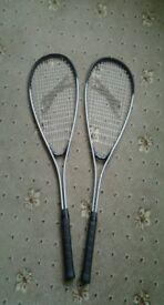 Slazenger Squash Rackets Excellant Condition