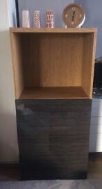 Storage shelving unit gloss doors