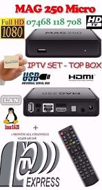 *OVER 3900+ CHANNELS*MAG HD IPTV BOX BETTER THAN SAT BOXES-NO DISH+12 MTHS-SMART TV/MAG/OPENBOX