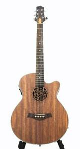On Sale ! Acoustic Electric Guitar Unique style 40 inch Walnut iMG845EQ