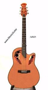 Free Delivery Round Back Acoustic Guitar Chard iVA01 Natural 43 inch