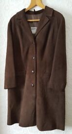 Vintage (Late 60s) Suede Leather Full Length Ladies Coat