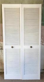White Louvre Doors (pair)