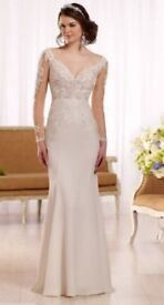 Hollywood Inspired Long Sleeve Illusion Lace Wedding Dress