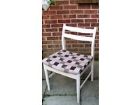Cute Schreiber Style Chair painted in Antique White or Flint Grey Colour