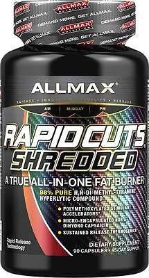 NEW ALLMAX Nutrition Rapidcuts Shredded / 90 Capsules / 10-19 Expiration