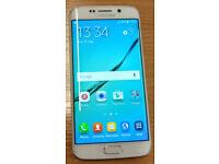 "Like New Unlocked Samsung Galaxy S6 Edge 64GB 5.1"" AMOLED qHD 3GB RAM Android Mobile Phone (s 6)"