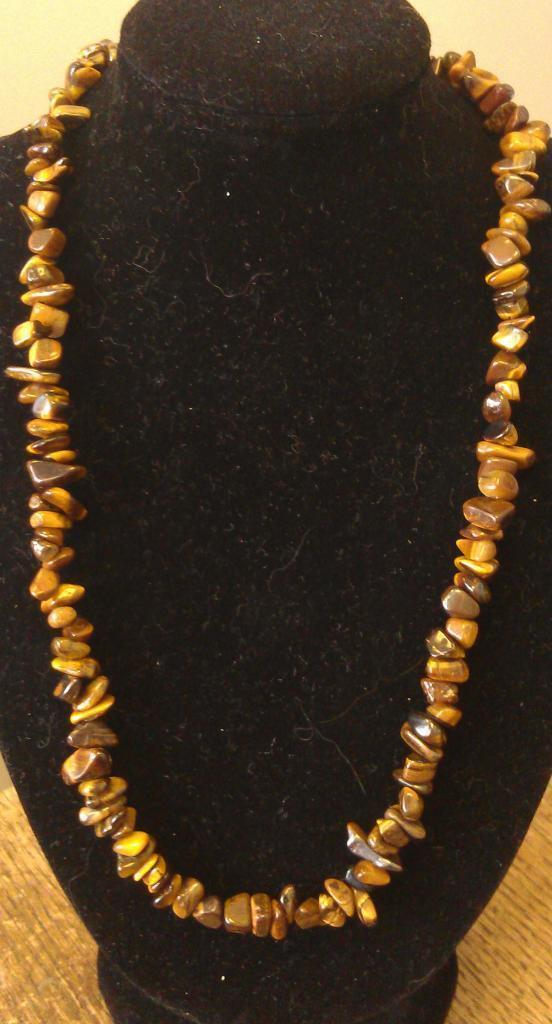 "Tiger Eye Necklace 16"" to 34"", Long Necklace, Short Necklace, Hand Crafted"