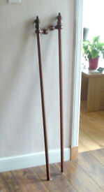 Wooden Double Curtain Pole with Easy Closure Rings