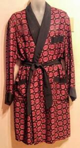 "MENS Large Vintage Smoking Jacket EXCELLENT Dressing Gown Made in Canada Hugh Hefner 42"" chest"