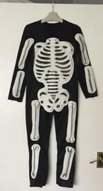 Child's skeleton costume age 3-4 years