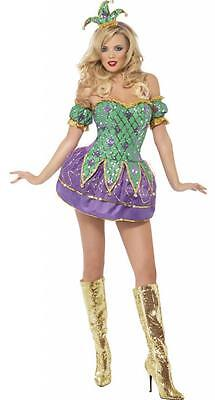 *CLEARANCE* Harlequin Shine Halloween Women's Fancy Dress Costume (Smiffys)