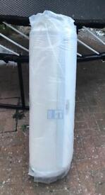 Rolled memory foam mattress single