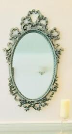 Vintage duck egg green/blue mirror