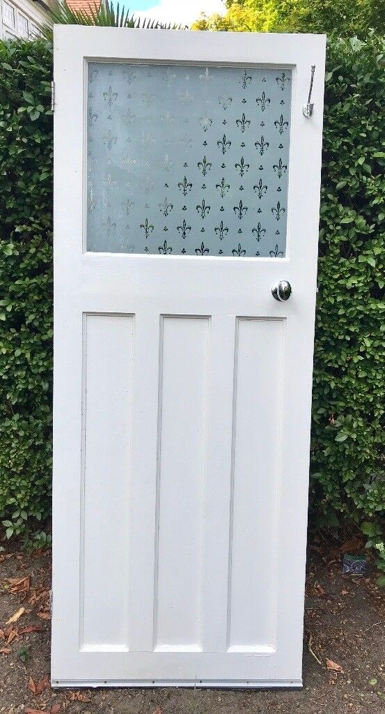 White Bathroom Door With Frosted Glass In Wandsworth London Gumtree