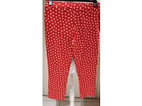 Kelly Brook Collection Red Capri Polka Dot Trousers - UK10