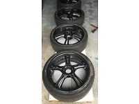 "18"" Alloy Wheels with Tyres - 5x114.3 PCD - Mitsubishi - Honda - Toyota - Refurbished in Anthracite"